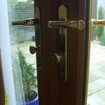 Door handle with thumblatch cylindeer